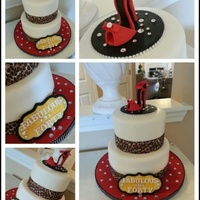 Fabolous And Forty Cake   Gumpaste shoe and plaque