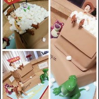 Toy Story Cake  Original design by Little Cherry Cupcake and Royal Bakery I tried my very best to make this cake :) single layer white chocolate cinnamon...