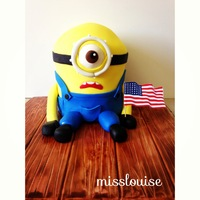 Despicable Me Minion Cake Fourth of July Despicable Me Minion Cake