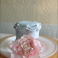 Peony Made a few mini cakes to practice some techniques - this time it was swags and a large peony! Hope you enjoy :)