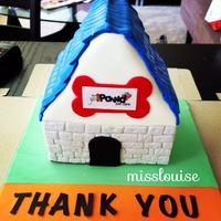 Dog House Cake Dog house cake made for iPawd Pet Care