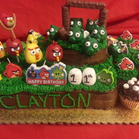 Angry Birds Cake, Cake Pops And Cupcakes