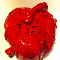Human Heart Cake - For Charity Event (Bhf) Very gory real looking human heart cake for a british heart foundation charity auction!