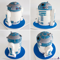 R2D2 Cake R2D2 cake for a wedding. Everything is cake, we did not use RKT or dummies.