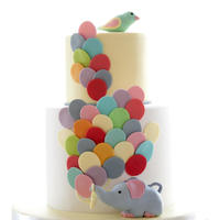 Elephant With Balloons Our mother always says she want a children style cake, so we surprise her with this one in her 60th birthday.Carrot cake for her and...
