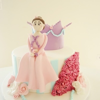 Princess Cake The Inspiration Was From Bellas Cup Cakes   Princess cake!The inspiration was from Bella's cup cakes!