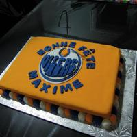 Edmonton Oilers Birthday Cake   Edmonton Oilers birthday cake for my son's 4th birthday