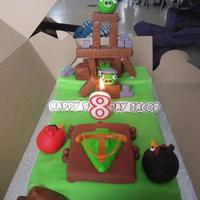 Angry Birds Birthday Cake   Angry Birds birthday cake for my son's 8th birthday.