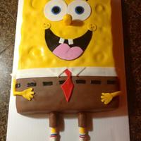 Spongebob Birthday Cake This was a fun cake to make.