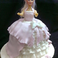A Doll Cake With Chocolate Filling a doll cake with chocolate filling