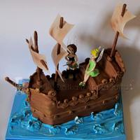Tinkerbell And Pirate Fairy Cake   *
