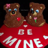 Two 3D Mini Bears Decorated Using Star Tip And Chocolate Frosting Ears Eyes Nose Feet Ect Were All Made From Fondant Large Cake Board Two 3D mini bears decorated using star tip and chocolate frosting. Ears, eyes, nose, feet, ect. were all made from fondant. Large cake...