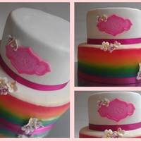 Airbrushed Rainbow Cake Second Time Using My Airbrush Airbrushed Rainbow cake! Second time using my airbrush!