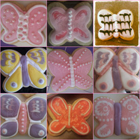 Butterfly Cookies Collage   Butterfly Cookies collage