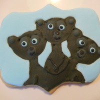 Disney Brave Sugar Cookies the triplet brothers as cubs from Brave sugar cookies with royal icing