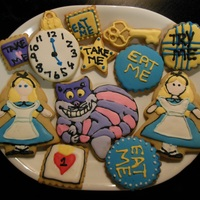 Alice In Wonderland Cookies Alice in Wonderland sugar cookies with royal icing
