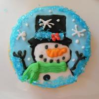 Snowman Sugar Cookies With Royal Icing *snowman sugar cookie with royal icing following a deisgn I saw by tea party cakes