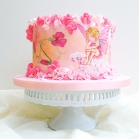 Hand Painted Fairy Cake