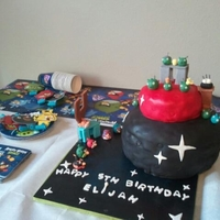 Space Angry Bird Birthday Cake   Space Angry Bird birthday cake. Creativesweetsbynancy.com
