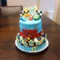Cars Birthday Cake Two tier Cars Birthday cake