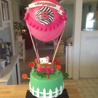 Hello Kitty Hot Air Balloon Birthday Cake   Hello Kitty hot air balloon birthday cake