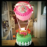 Hello Kitty Hot Air Balloon Borthday Cake   Hello Kitty hot air balloon borthday cake