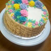 My Older Sister Who Is Very New To Decorating And I Decorated This Cake Together I Did The Basket Weave And She Did A Great Job Helping M My older sister (who is very new to decorating) and I decorated this cake together, I did the basket weave and she did a great job helping...