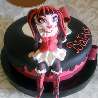 Draculaura Monster High Chocolate and cream cheese mousse filling with milk sponge cake