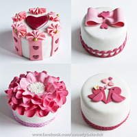 Happy Valentines Day Everyone My Valentines Mini Pink Cake Collection I Hope You All Like It Wwwfacebookcomsweetlybakeduk Happy Valentine's day everyone. My Valentine's mini pink cake collection. I hope you all like it.www.facebook.com/sweetlybakeduk...