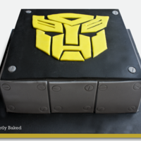 Birthday Cake For A Transformers Fan   Birthday Cake for a Transformers Fan.