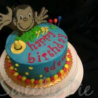 Curious George Cake   Butter Cream with Fondant accents.