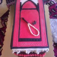 Prayer Rug Cake   Prayer Rug Cake. Fondant Accents. Dates and Tasbeeh (counter) are Fondant too.