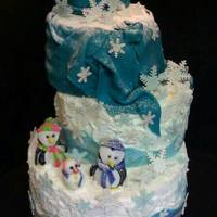 Winter Wonderland Cake Winter Wonderland with lots of Snow