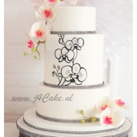 Phalaenopsis Wedding Cake I loved making this wedding cake :-)