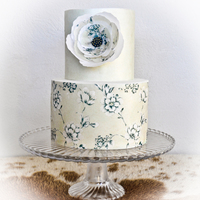 Intimate Wedding Cake Made for a mature couple's intimate wedding.Thanks for looking :-)