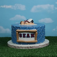 Baseball Themed Baby Shower Cake For Anyone Wanting To Know This Background Is Something That I Found At Hobby Lobby It Will Really Come Baseball themed baby shower cake. For anyone wanting to know this background is something that I found at Hobby Lobby. It will really come...