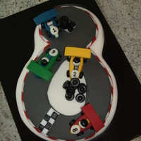 Racing Cake For A Car Mad 8 Year Old.