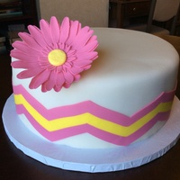 Bridal Shower Cake Vanilla Cake With Strawberry Filling The Chevron Pattern Is A Lot Harder Than I Thought It Would Be Because Its So Ea  Bridal shower cake. Vanilla cake with strawberry filling. The chevron pattern is a lot harder than I thought it would be because it's...