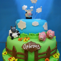Birthday Cake Photos   farm animals