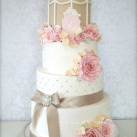 Cotton & Crumbs Inspired Birdcage Wedding Cake