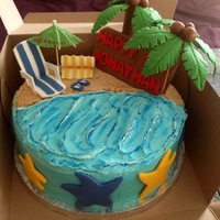 Beach Themed Cake Beach themed Cake