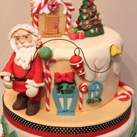 "Santa's Magic Cake "" Here comes Santa Claus!Right down Santa Claus Lane!Vixen and Blitzen and all his reindeerAre pulling on the reins.Bells are..."