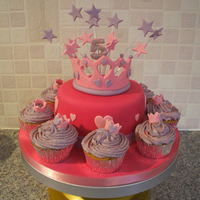 Princess Cake And Cupcakes Princess cake and cupcakes