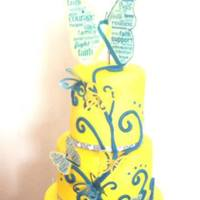Blue & Yellow Butterfly Cake i had the inspiration for this cake from this site, i was asked to make a cake for the down syndrome society 21st birthday and i went with...