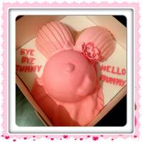 Baby Bump Belly *my 1st ever baby shower cake really enjoyed making this one