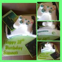 X Box Cake I was asked for a X Box cake and this is what i came up with vanilla cakes with fondant covering