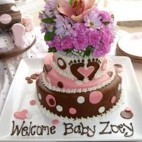 Andreas Baby Shower For Baby Zoey Footprints With Heart Matched The Baby Shower Invitations Note Flowers Are Real Andrea's baby shower for baby Zoey! Footprints with heart matched the baby shower invitations. *Note: Flowers are real!