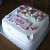 Nans 100Th Birthday Cake Fruit Cake Fondant Plaque And Roses First Attempt At Making These She Loved It But Sadly Passed Away A Month Nan's 100th Birthday Cake.Fruit cake, fondant plaque and roses (first attempt at making these).She loved it but sadly passed away a...