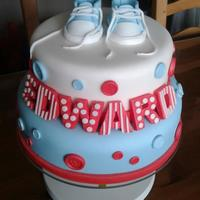My 3Rd Sons Christening Cake Bottom Layer Is Fruit Cake Top Layer Is Vanilla Madeira Sponge Cake First Attempt At Making Baby Converse S My 3rd son's Christening cake.Bottom layer is fruit cake, top layer is vanilla madeira sponge cake.First attempt at making baby...