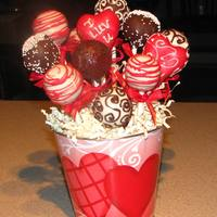 Raspberry Kissed Chocolate Cake Pops Just In Time For Valentines Day!!!